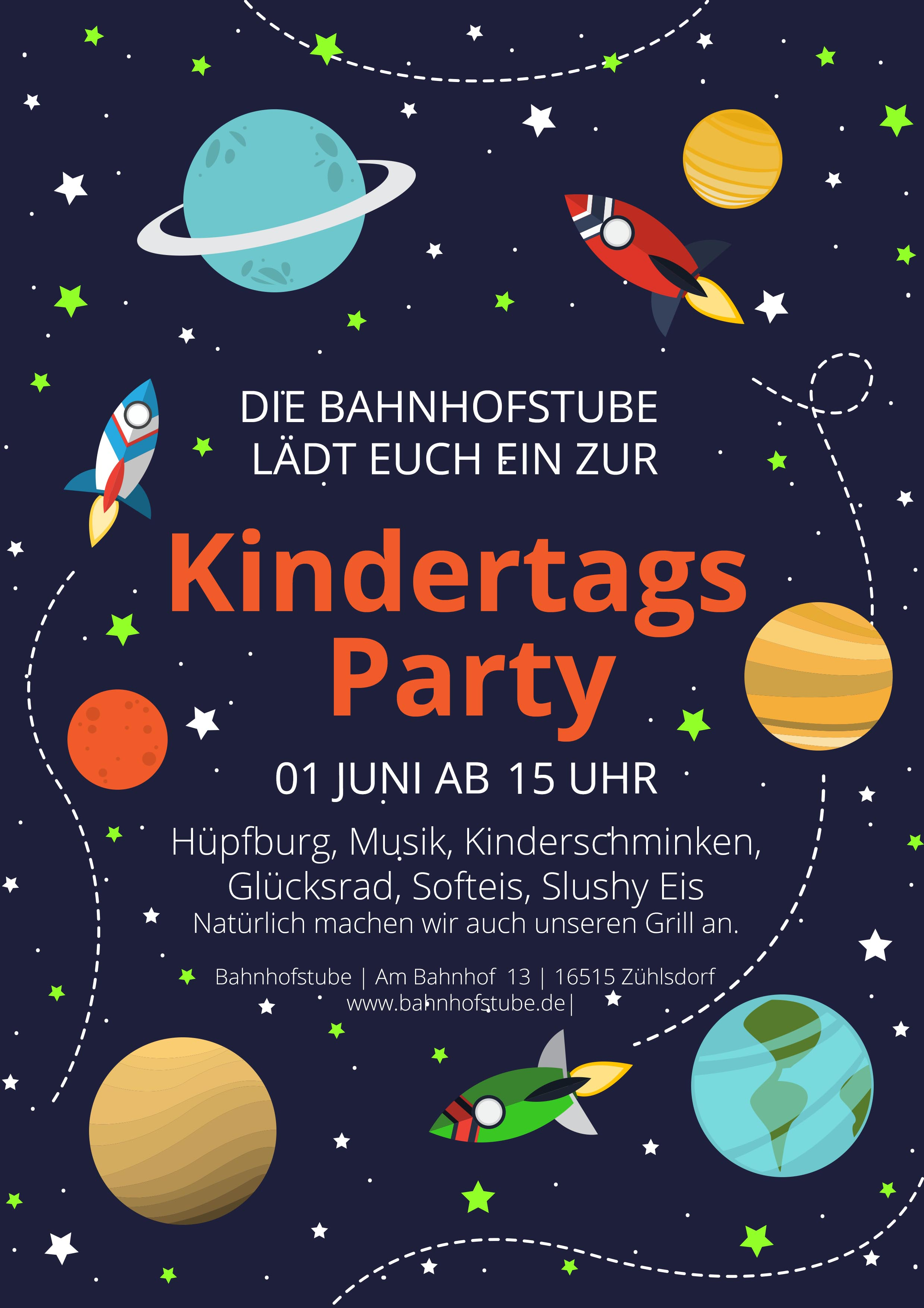 Kindertags Party in der Bahnhofstube Zühlsdorf